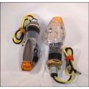 LED knipper licht Chroom 2 cm arm met achter indicatie (per paar)