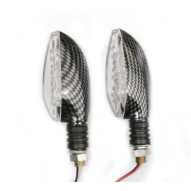 LED knipperlicht uni carbon (per paar)