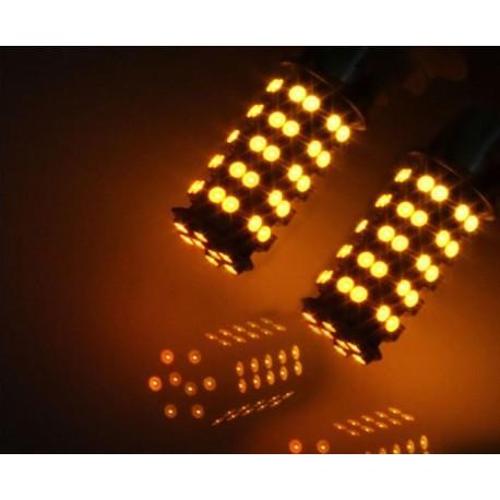 LED BA15s Amber 21W knipperlicht (per paar)