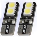 Witte Canbus T10 dashboard LED lampjes 6 SMD leds per lampje (per paar)