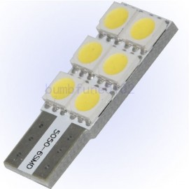 Witte Canbus T10 dashboard LED lampjes 4 SMD leds per lampje (per paar)
