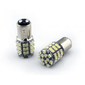 LED T25 BAY15D Wit Remlicht 60 witte leds helder