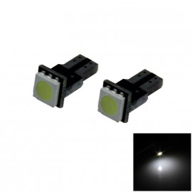 Witte Canbus T5 dashboard LED lampjes 1 SMD (per paar)