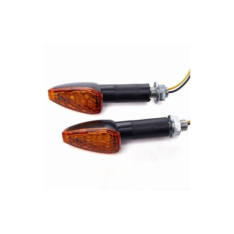 LED knipperlichten 4 cm arm, met achter indicatie (per paar) oranje