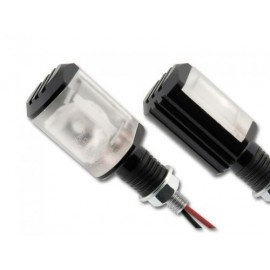 Hi power LED richtingaanwijzers Padova zwart 20MM stem
