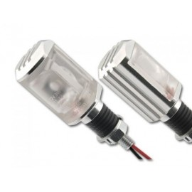 Hi power LED richtingaanwijzers Padova Silver 20MM stem