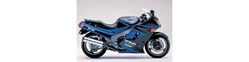 Zwart windscherm Kawasaki ZZR1100C model